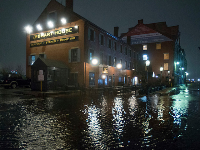 Boston streets flooding as nor'easter pounds city