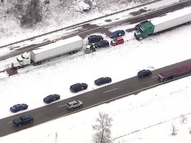 Pileup closes westbound I-94 at Mount Hope Road